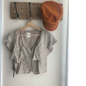NWT Line & Dot (Revolve) Nude Color Blouse Size S